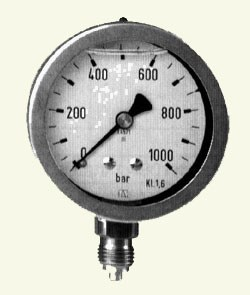 Gauge max 1000 bar Stainless body