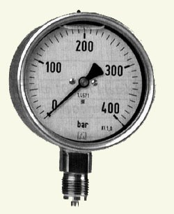 Gauge max 400 bar Stainless body