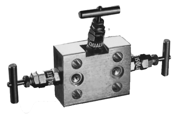 Three valve manifold 3-way PN 400