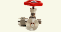 Gauge needle valve PN400 with flange